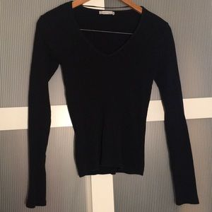 ✨3/$25 ZARA Black Sweater V Neck Small